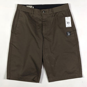 Volcom Vmonty Modern Fit Mens Size 28 Marsh Green